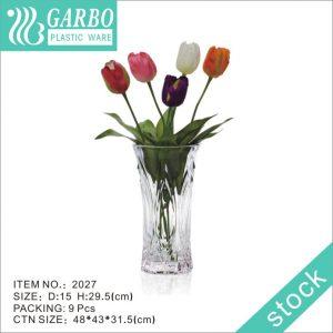 Home decor 30cm height Bohemia Waisted plastic vase for flower
