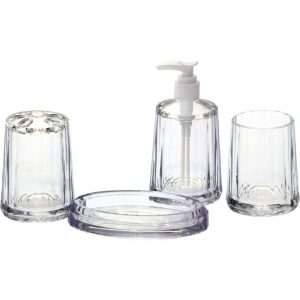 Acrylic bathroom set plastic hotel balfour bathroom accessories
