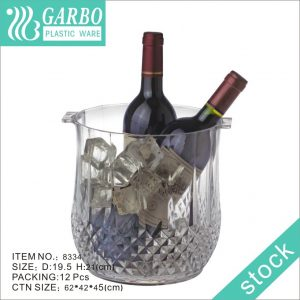105OZ Big Size Bar Tableware Clear Plastic Ice Bucket