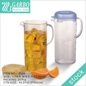 8528 PP plastic water pitcher with lid factory price juice jar