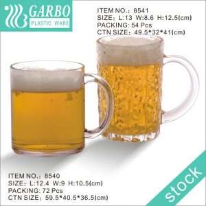 Wholesale Small-size Clear Plastic Mug with Simple Design