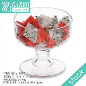 Taza plástica del helado de la capacidad grande al por mayor 1000ml con alta calidad blanca