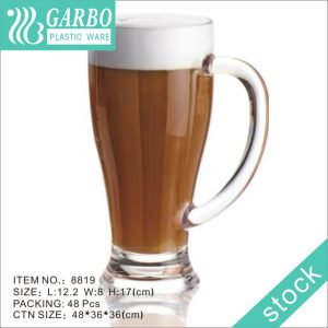 Garbo 430ml Easy-carry Mugs Plastic Beer Mug with Light Weight