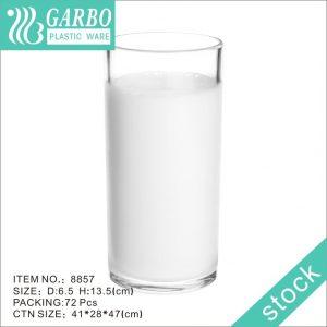 مطعم بالجملة رخيصة مقاومة جيدة 12 أوقية شرب الحليب كوب شفاف