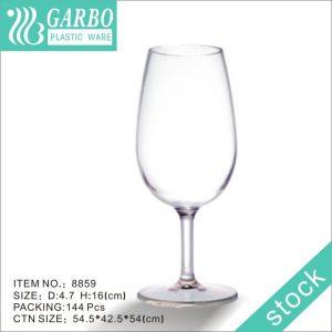 kitchenware unbreakable dishwasher safe plastic red wine glasses
