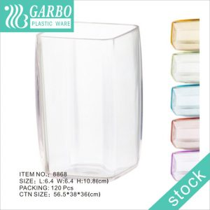 Home decoration Non Breakable Acrylic Plastic tall square Flower Vase