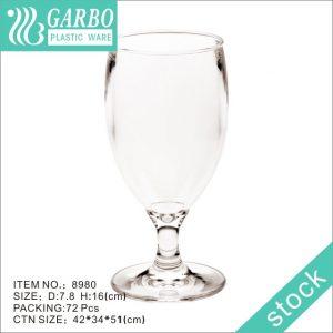 10oz juice drinking plastic stemware unbreakable for parties