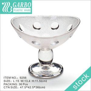 9256 Высококачественная прозрачная пластиковая чашка для пудинга для мороженого, чаши для десерта с низкой ценой