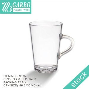11oz Middle-size Garbo Plastic Mug Drinking Cups with Simple Design