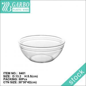 وعاء سلطة بلاستيكي متوسط الحجم لمطعم منزلي باستخدام