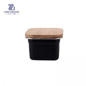 Fiambrera de acero inoxidable 550 de 304 ml con tapa de bambú hermética