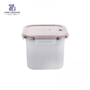 Caja fresca de acero inoxidable 1800 de 304 ml con tapa hermética de PP