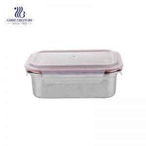 Caja fresca de acero inoxidable 1200 de 304 ml con tapa hermética de PP
