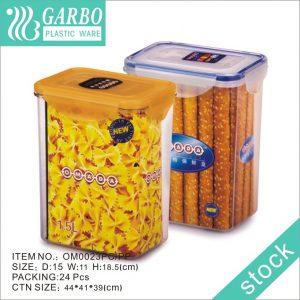 عبوات بلاستيكية خالية من مادة BPA سعة 1.5 لتر مع أغطية متينة مثالية لسكر دقيق الحبوب