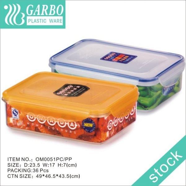 Cuisine de stockage des aliments en acier inoxydable récipient hermétique plat carré No.5