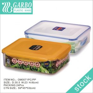 Big size 3700ml Reusable PP Food Storage Container for Fresh Fruit