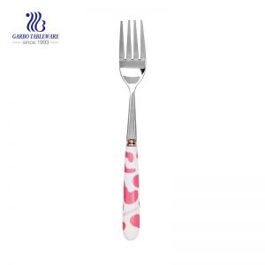 Mirror polished stainless steel fork with ceramic handle