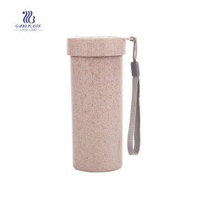 Botella de agua potable sin BPA a prueba de fugas de 400 ml con cuerda