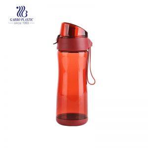 Botella plástica del agua de los deportes de 450ml BPA libre a prueba de fugas de la boca ancha