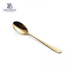 Gold plating spoon luxury royal stainless steel dinner spoon western tableware