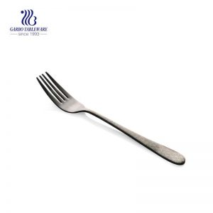 Electroplated dinner fork stainless steel flatware