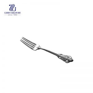 Stainless steel flatware cake fork with forging handle