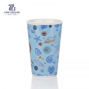 Blue Sea Series white ceramic 16oz  ceramic espresso cups