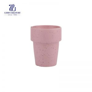 reusable  12.4 oz speckled star pink colored ceramic travel cup