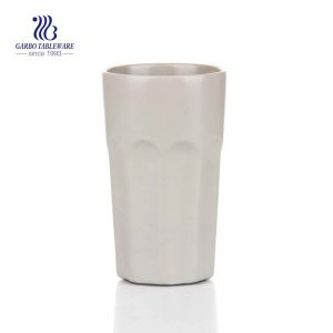 White take away 510ml classical ceramic tea cups coffee cup for home use