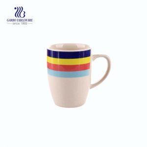 أكواب قهوة سيراميك مخصصة للطباعة اليدوية 300 مللي بمقبض