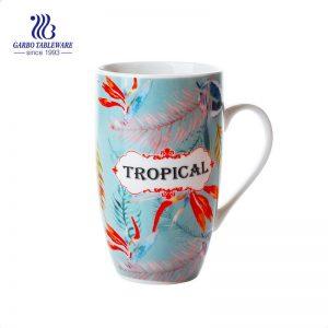 400 ملليلتر هدية ترويجية كبيرة السيراميك القهوة القدح اليدوية الإبداعية مخصصة صائق زهرة السيراميك القدح البيرة مع مقبض