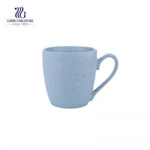 440 مللي أكواب سيراميك سيراميك ملونة زرقاء فريدة من نوعها قابلة للطلاء مع مقبض