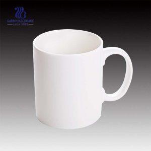 كوب قهوة من السيراميك طراز كلاسيكي عالي الجودة 340 مللي من السيراميك الأبيض مصنوع يدويًا من السيراميك كوب حليب