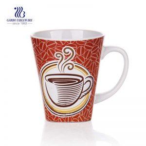 كوب قهوة من السيراميك الأبيض مصنوع يدويًا صغير مستدير من السيراميك ، كوب قهوة يستخدم Hotle ، تصميمات مخصصة لصائق السيراميك ، كوب حليب للقهوة