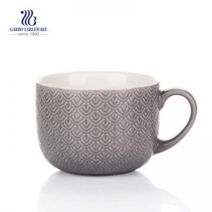 600ml customized decal designs hot sale ceramic milk mug promotion big bulk packaging ceramic soup mugs