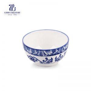 350 مل وعاء من السيراميك بنمط زخرفي كلاسيكي للحساء