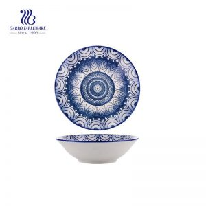 Round flower pattern wholesale microwave safe high quality ceramic bowl with good price