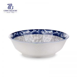 640ml hand made deep microwave safe decorative ceramic bowl with factory price