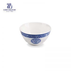 280ml Cheap small round hand made cereal rice soup vintage porcelain ceramic bowl tableware