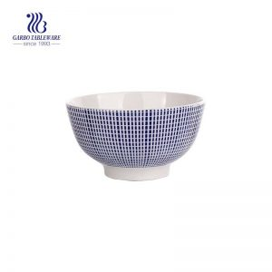 300ml wholesale best selling hand made blue white das gitter ceramic bowl