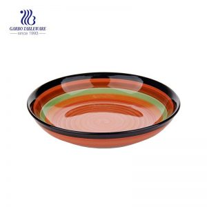 "Stock Rainbow Design Stoneware Plate with size of 8.07""/ 205mm"