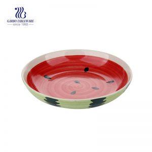طبق من السيراميك بتصميم البطيخ بحجم 8.07 بوصة / 205 ملم
