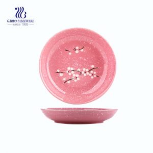 "Winersweet Design Ceramic Plate with size of 8.98""/ 228mm for Home Usage"