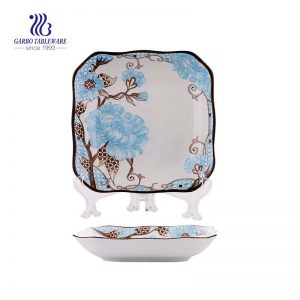 "Square Ceramic Plate with size of 9.61""/ 244mm for Dinner Ceramic Tableware"