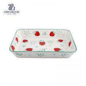 2L rectangular ceramic loaf /bread /cake pan for home baking