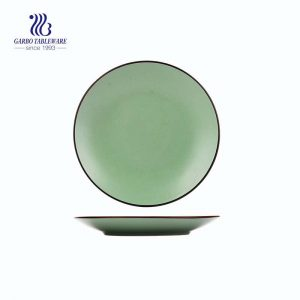 """Unicolor Light Green Ceramic Plate with size of 8.07""""/ 205mm for Home Usage"""