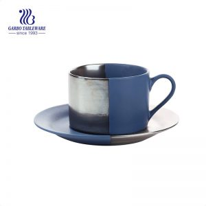 Europe Style Simple fashion Stoneware tableware porcelain mug with saucer dinner set 220ml