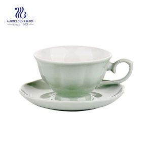 Elegant Fancy Mug  Daily Coffee Tea  Stoneware tableware ceramic mug with saucer set