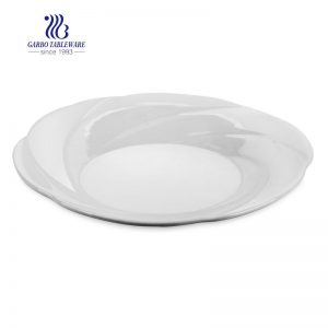 "High Quality Ceramic Deep Plate without decal 8.98""/ 228mm for Home Usage"