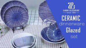 Prato de cerâmica com padrão clássico Garbo China